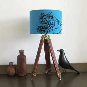 Tiger Lampshade Nine Colour Options - lighting