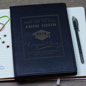 Personalised Graduation Notebook - graduation gifts