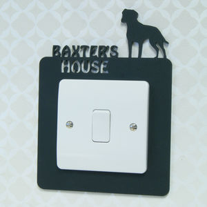 Personalised Pet Light Switch Surround - light switches & pulls