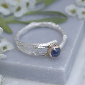 Sapphire Woodland Twig Ring Sapphire Engagement Ring