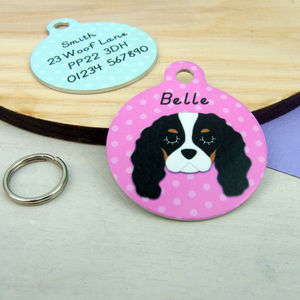 Cavalier King Charles Spaniel Personalised Dog ID Tag - dogs
