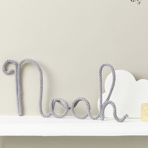 Personalised Name Sign Knitted And Wire