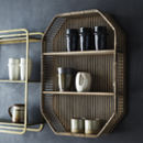 Rectangle Rattan Wall Shelf