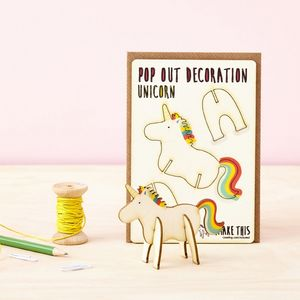 Pop Out Unicorn Greeting Card - unicorns