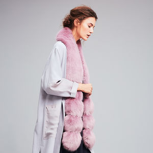 Pom Pom Faux Fur Scarf - accessories gifts for friends