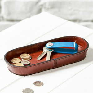 Leather Coin Tray - cufflink boxes & coin trays