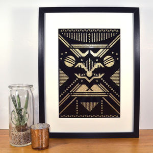Contemporary Art Deco Inspired Feline Laser Cut - modern & abstract