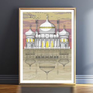 Brighton Pavilion Sunset Architectural Print