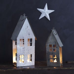 Tin House Hanging Tealight Holders