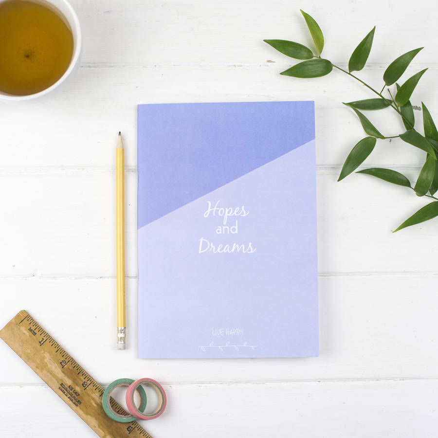 Hopes And Dreams, Plans And Actions Reversible Notebook