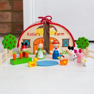 Personalised Wooden Farm Set - personalised