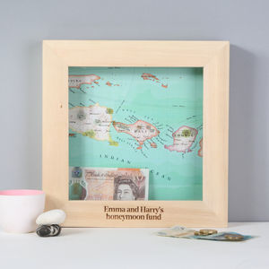 Personalised Map Mother's Day Adventure Fund Money Box