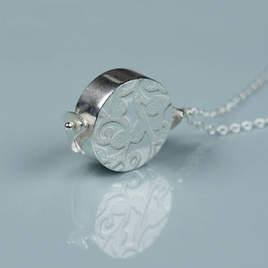Silver Spinning Locket - necklaces & pendants