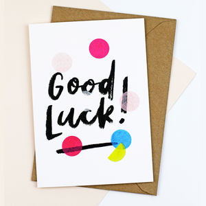 'Good Luck' Confetti Card