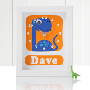 Personalised Framed Dinosaur Clocks - decorative accessories