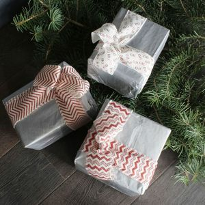 Festive Glitter Jute Ribbon Set - cards & wrap
