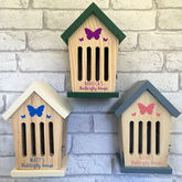 Personalised Wooden Butterfly House - garden