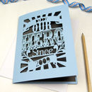 Personalised Papercut Hero Father's Day Card