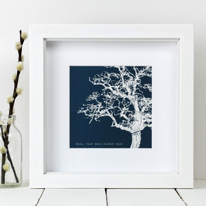 Framed 'Blow, Blow Thou Winter Wind' Winter Tree Print