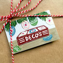 Hand Illustrated 'Decos' Christmas Gift Cards
