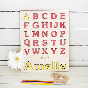 My First Alphabet Personalised Puzzle - board games & puzzles