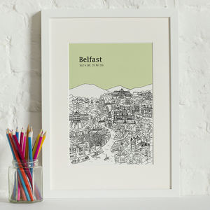 Personalised Belfast Print - maps & locations