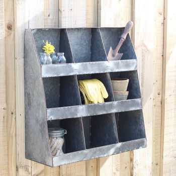 Zinc Wall Shelf Unit