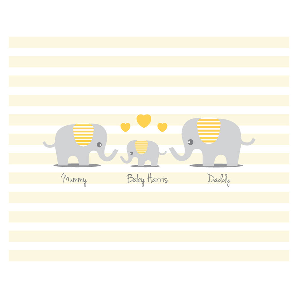 Personalised Elephant Baby Shower Guest Book Print By Bird Key