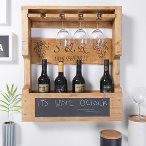 Personalised Wine Bottle Rack