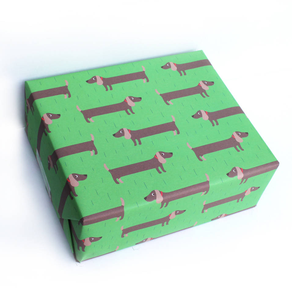 Sausage Dog Print Wrapping Paper