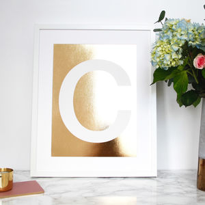 Individual Foil Letters - less ordinary wall art