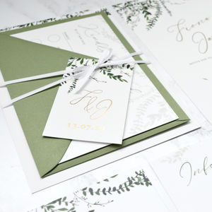 Foliage With Foiling Wedding Invitation