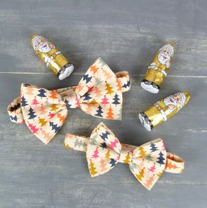 Father And Son Christmas Bow Tie Set