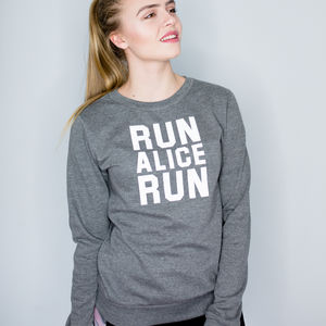 Personalised Running Sweatshirt - women's fashion