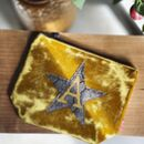 Embroidered Star Purse Or Clutch