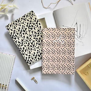 Set Of Two Slim Notebooks Dots