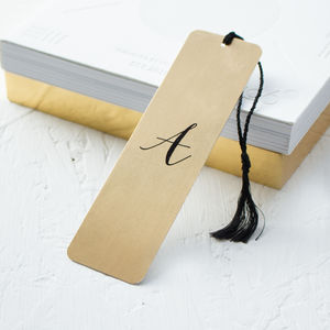 Personalised Mirror Gold Metal Bookmark - desk accessories