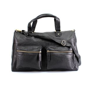 Birwick Leather Zip Pocket Holdall