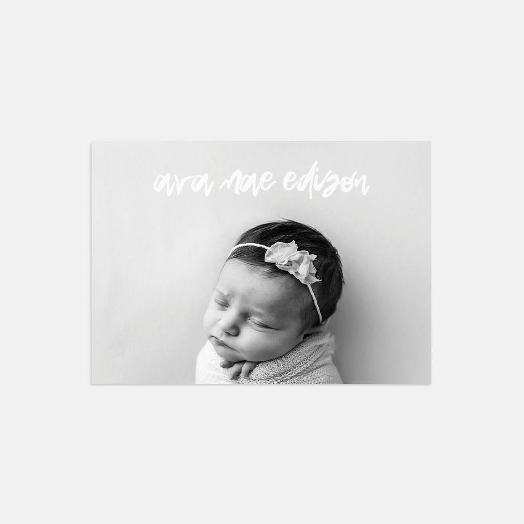 snap baby photo birth announcement cards by lolas paperie – Photo Birth Announcement Cards
