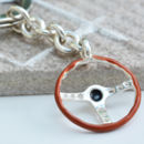 Sterling Silver Steering Wheel Keyring