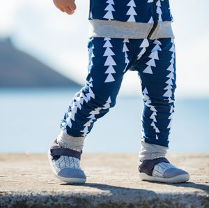 Navy Triangles Leggings - trousers & leggings
