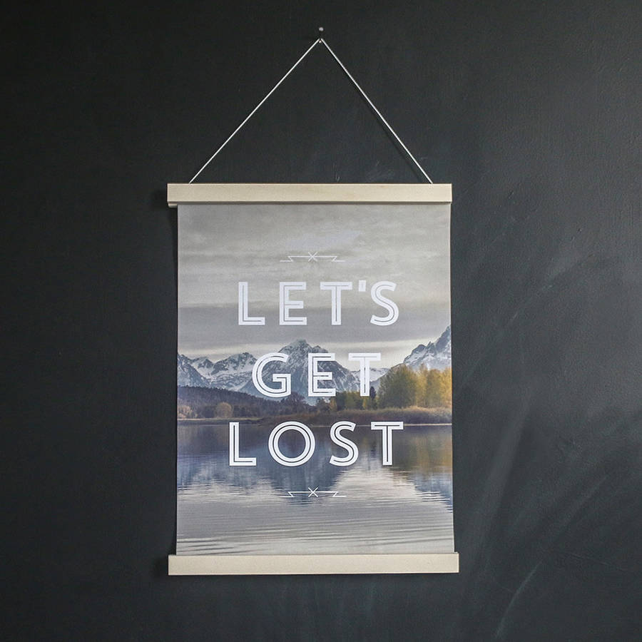faunascapes lets get lost art print by the little house