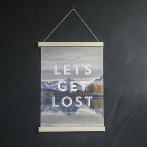 Faunascapes Lets Get Lost Art Print - traveller