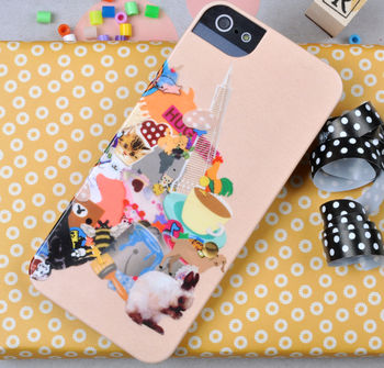Bunny 'Stickers' Case For iPhone 5/5S