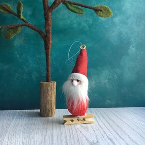 Felt Peg On Christmas Tree Decorations - tree decorations
