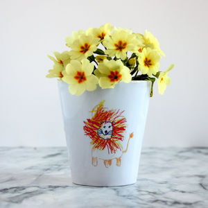 Personalised Child's Drawing Plant Pot - gifts for fathers