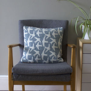 40cm Flying Bird Cushion - patterned cushions