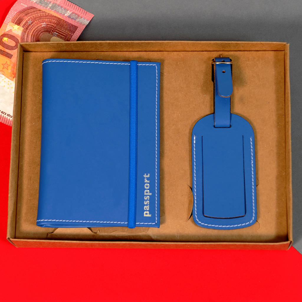 Passport Holder With Matching Tag