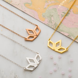Lotus Deco Necklace - stylist live collection