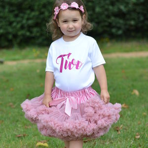 2nd Birthday Tutu Outfit - clothing